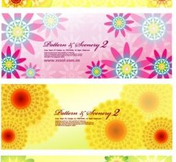 colorful flowers background Illustration vector