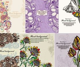 Delicate flowers exquisite flower vectors graphic