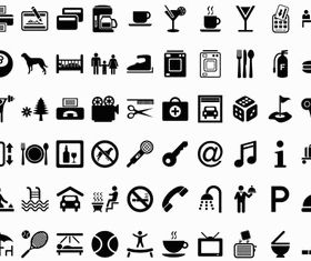 Hotels Icons set vector