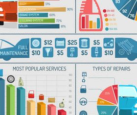 Infographics with Transport design vector