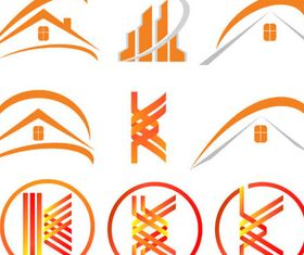 Real Estate Logo Set 14 vector graphics