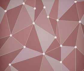 Abstract red polygon Free vector