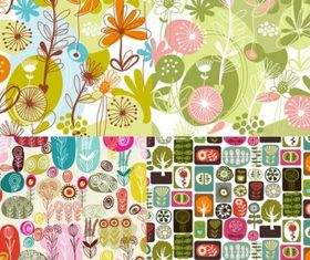 flowers and plant set vector