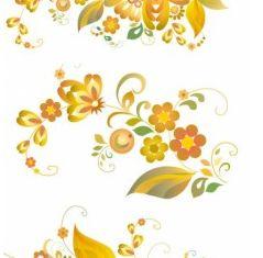 Beautiful flower pattern shiny vector
