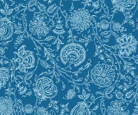 flower pattern background 2 shiny vector