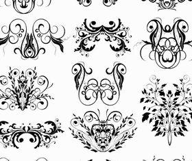 Ornamental Floral Elements 11 vector material