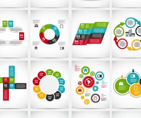 Option Infographics Elements 11 vector graphic
