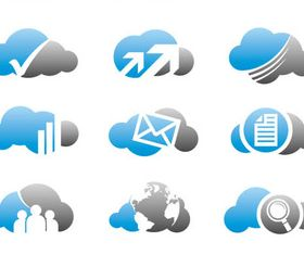 Clouds Business Logotypes vectors material
