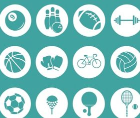 Sport icons collection Free vector