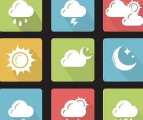Weather icons Free shiny vector