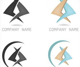 Corporate modern logo vector set