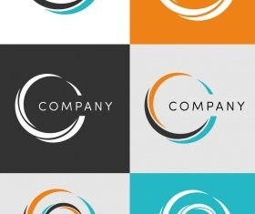 Corporate circle logo creative vector