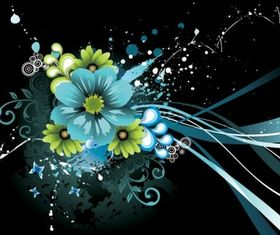 The trend flowers vectors