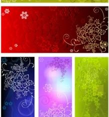 Embossed flower background vectors graphics