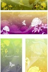Rose dream background silhouette vector