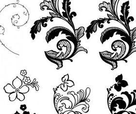 Flower background pattern vectors