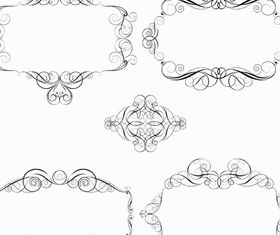 Calligraphic Ornamental Frames vectors graphics