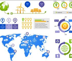 Eco Infographic Elements Mix vectors material