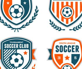 Football Shiny Labels 2 vector
