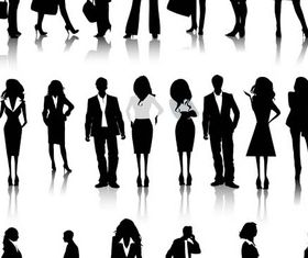 Silhouettes Business People 4 design vectors