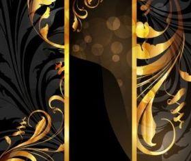 Gold pattern 4 vector
