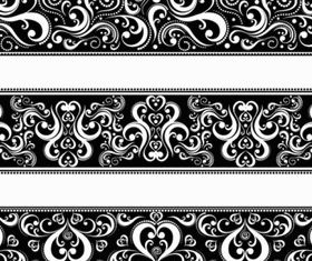 Classic traditional pattern lace 04 vectors
