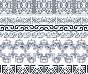 Classic traditional pattern lace 03 vectors