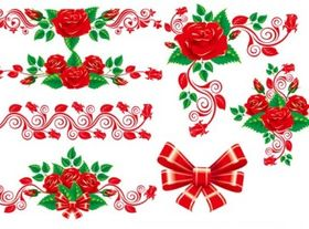 The beautiful rose lace vector