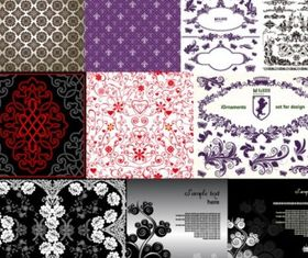 beautiful pattern set vector