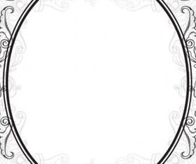 europeanstyle lace border pattern creative vector