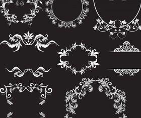 Floral elements frames vectors