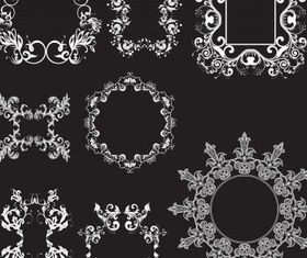 Floral elements 24 vector graphic