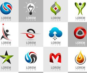 Abstract Business Logotypes 9 vector set