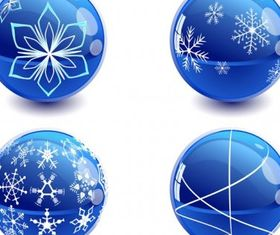 Christmas crystal ball vector graphics