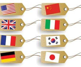 Flag tag vector design