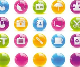 crystal ball button icon vector graphic