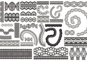 Lace lace pattern 2 vectors