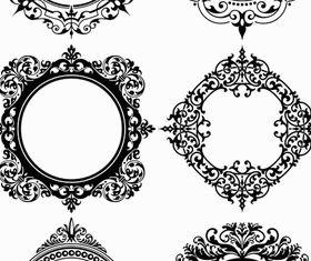 Circle Ornamental Frames set vector