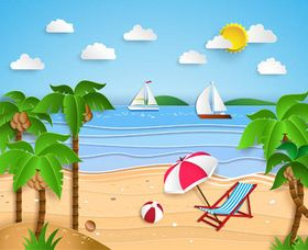 Summer Travel Backgrounds 2 vector