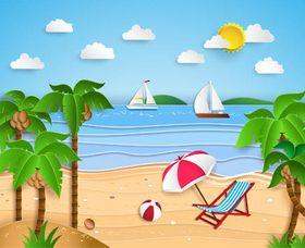 Summer Travel Backgrounds 2 vector
