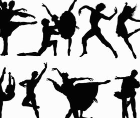 Ballet free vector material