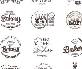 Food Vintage Bakery Labels 2 vector