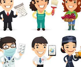 Cartoon Workers 5 vector