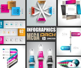 Option Infographics Elements 10 vectors