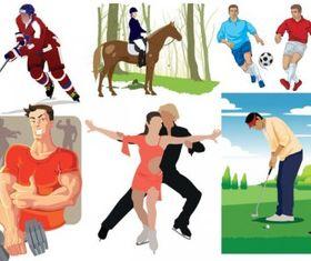Sports figures vectors