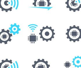 Icons with Gears vectors