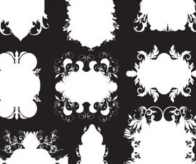 Floral elements 17 vector