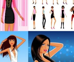 More fashion women vectors graphic