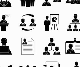 Human Resources Icons 3 vectors graphics