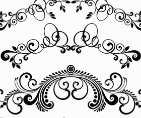 Ornamental Floral Dividers 7 vector graphics